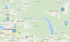 Карта Агенства недвижимости Проспектъ г. Асбест